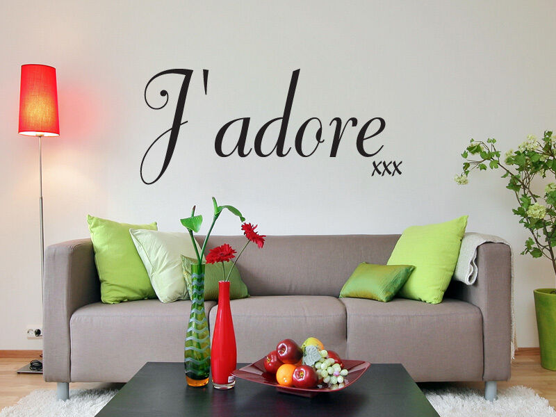 J/'adore xxx love quote wall art sticker living room bedroom hallway dining room