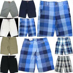 Boys-Chino-Shorts-Flat-Front-Adjustable-Waist-Arizona-Regular-and-Husky-Size