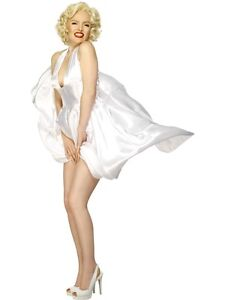 SALE Marilyn Monroe Classic White Dress - Smiffy s Ladies Fancy ... b408c88923b