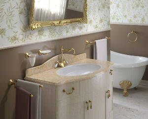 Set accessori da muro bronzati classici gedy romance for Gedy arredo bagno