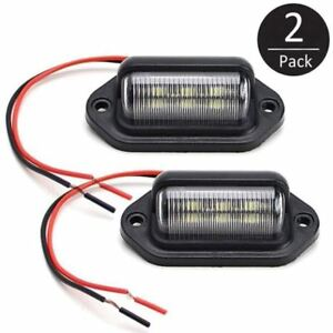 2x-6-LED-Rear-License-Number-Plate-Light-Lamp-Boat-UTE-Truck-Trailer-Caravan-Van