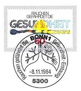 BRD-1984-Anti-Raucherkampagne-Nummer-1232-mit-Bonner-Ersttags-Sonderstempel