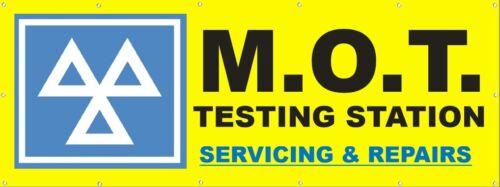 """FREE DESIGN PRINTED OUTDOOR SIGN M.O.T. 6ft x 3ft /""""MOT/"""" PVC VINYL BANNERS"""