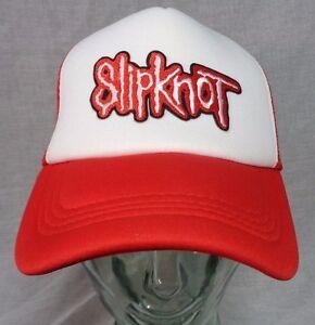 Image is loading slipknot-trucker-hat-mesh-cap-snapback-heavy-metal- c2e9e7d83ab