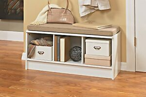 image is loading  cube storage bench seat entryway furniture home: storage bench for living room