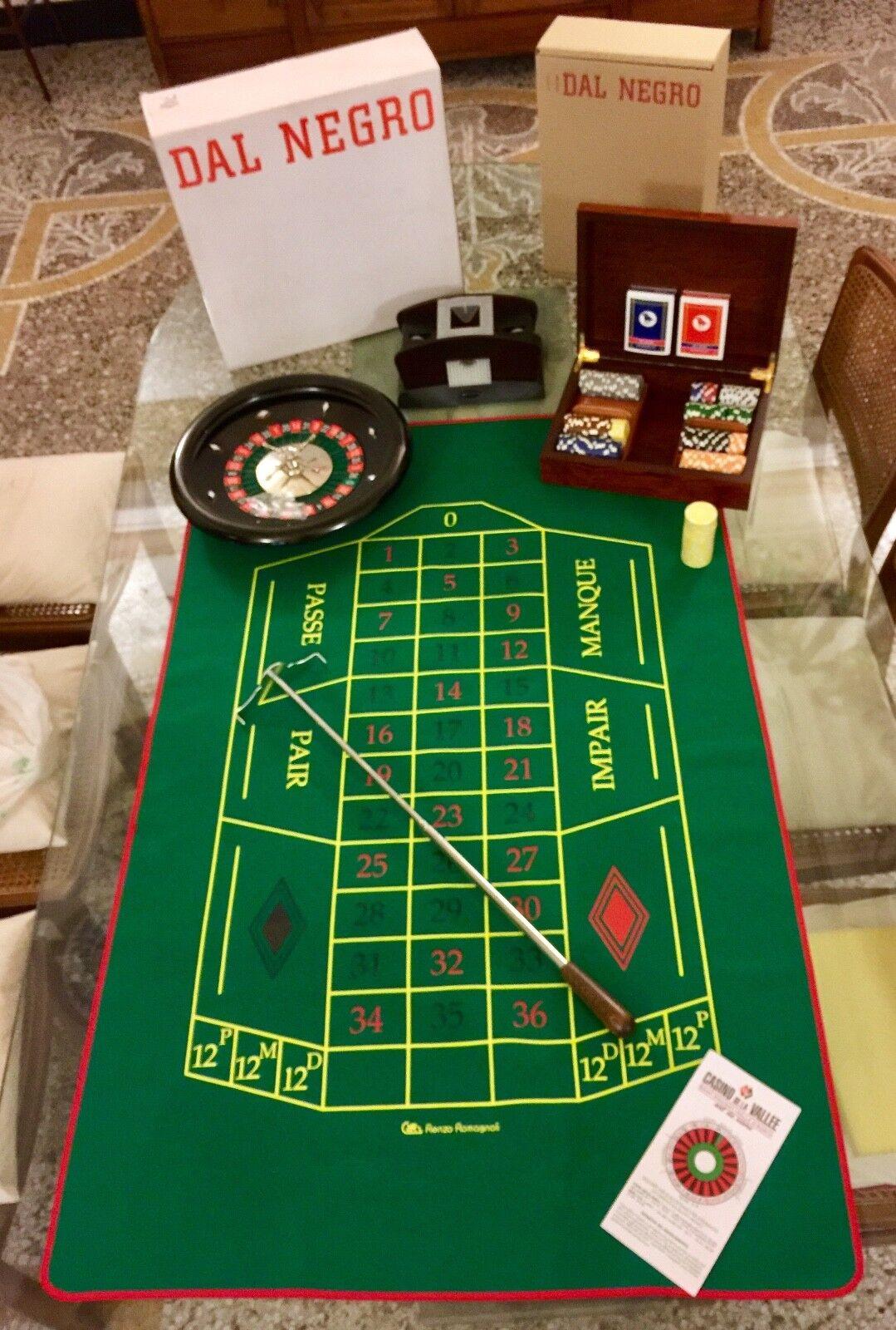 Dal noir ROULETTE set + POKER complete bundle - Casino Games