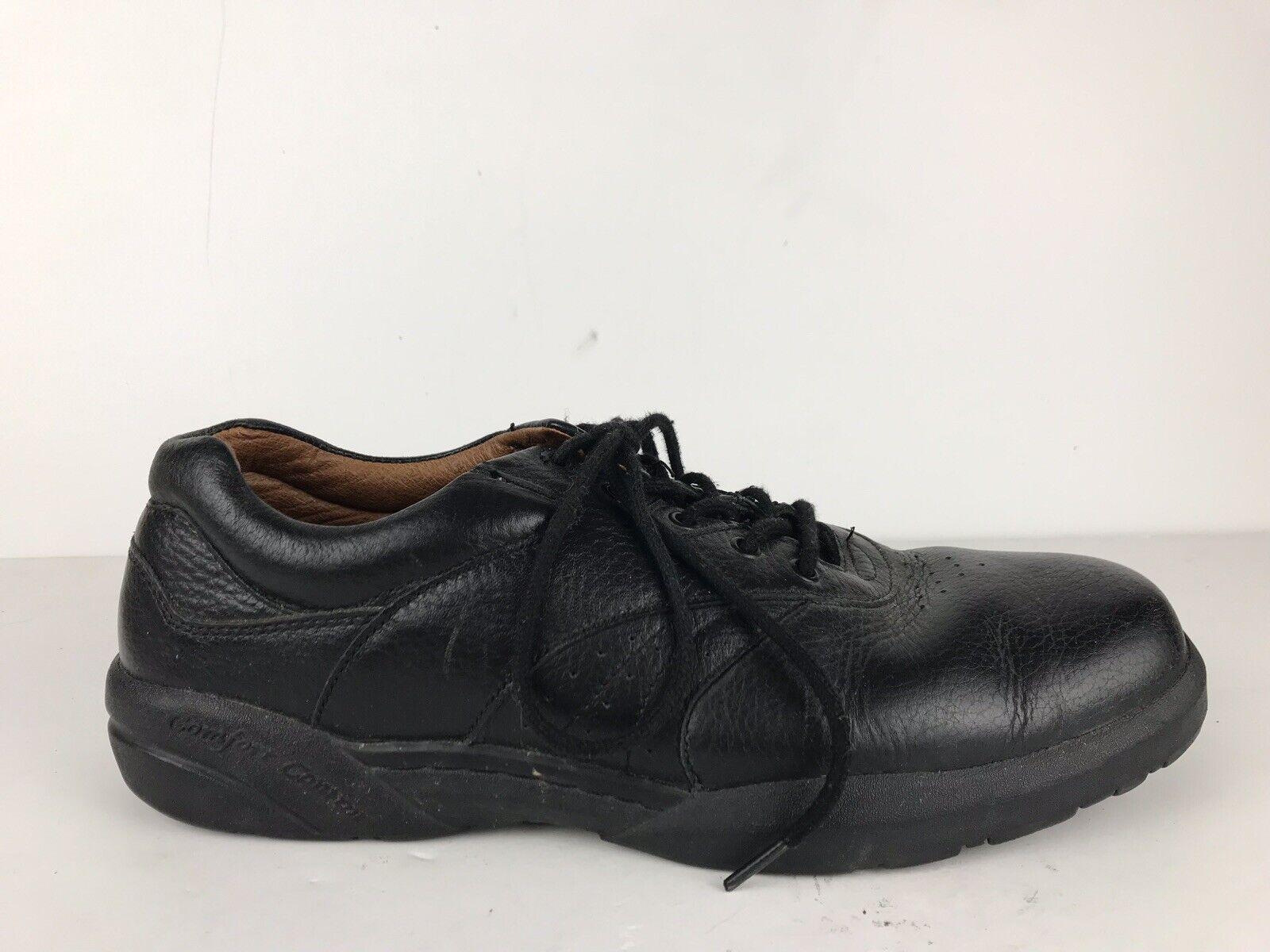 Dr. Comfort Mens David Black Leather Lace Up Diabetic shoes Men's 11.5 M