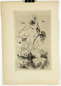 Original-CHARLES-COURTRY-Impressionist-Etching-Printed-in-1874-in-Paris-4