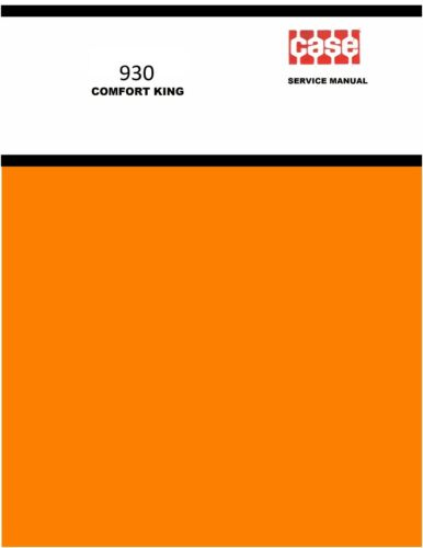 Case 930 Comfort King Tractor Service Manual Reproduction