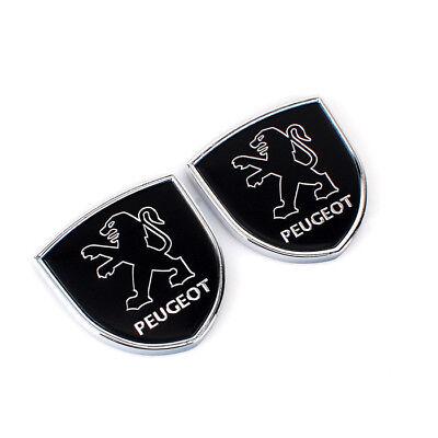 Car Logo Accessories Sticker Emblem Side Fender Badge Rear Decal For Peugeot