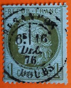 France Ceres oblitéré, n°50,  vert-olive, (TB-904--1), CaD Bonne cote Obli