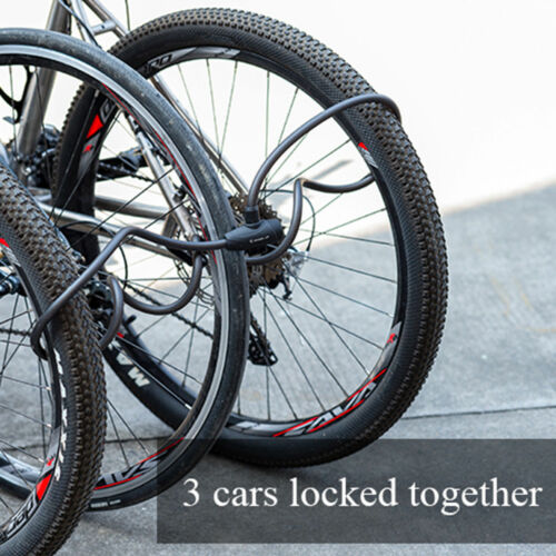 Heavy Duty Security Bycicle Lock Steel Cable Chain with 2 Keys for 1.2//1.8M Bike