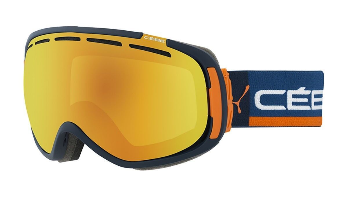 Cebe Feel'in Ski Goggles Snowboarding orange Flash Fire Lens Cat 2 Navy Frame