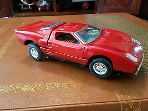 Image Is Loading Vintage Bandai  Ford Gt Battery Op Tin