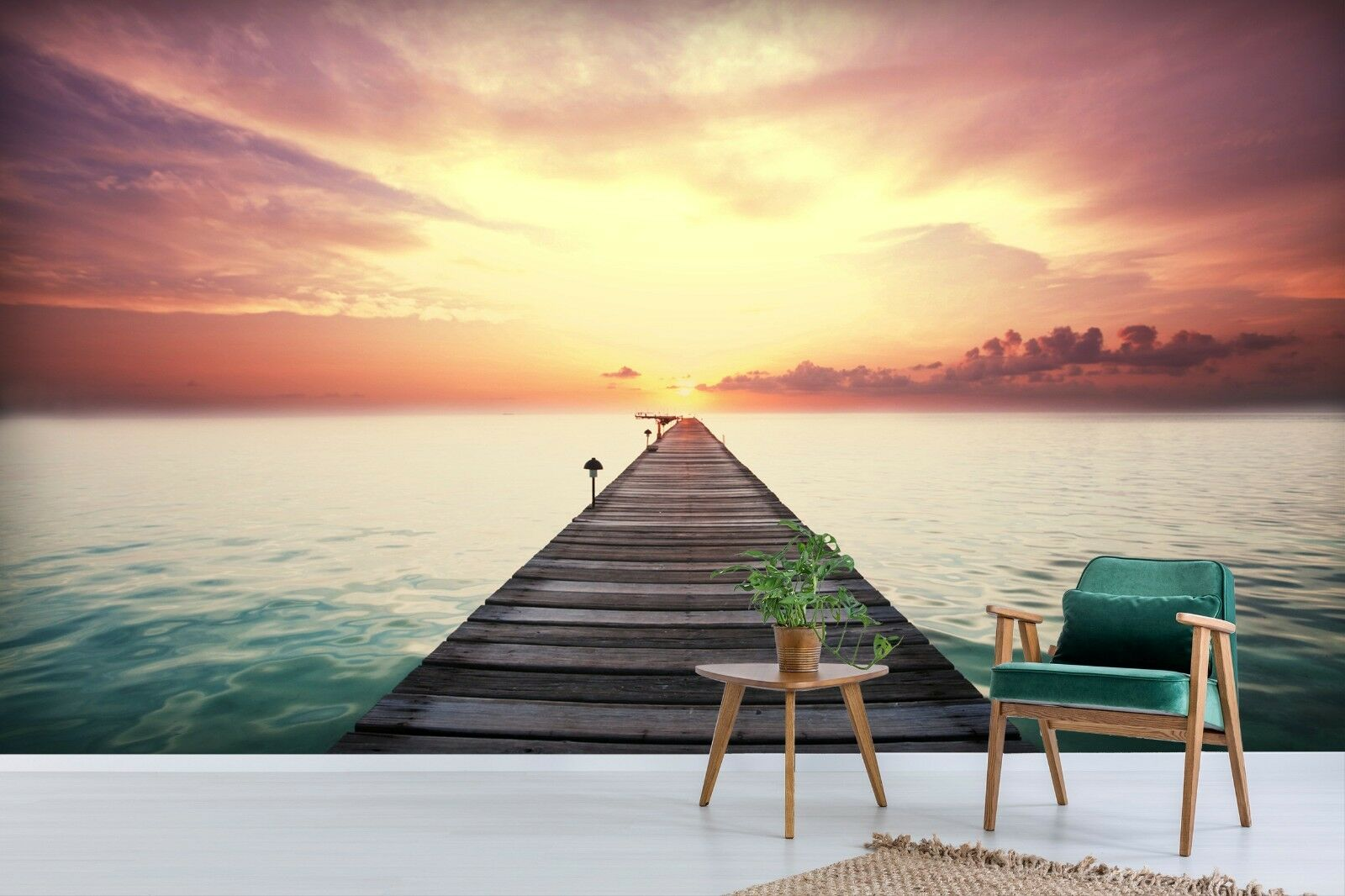 3D Sunset Seascape 77 Wall Paper Exclusive MXY Wallpaper Mural Decal Indoor Wall