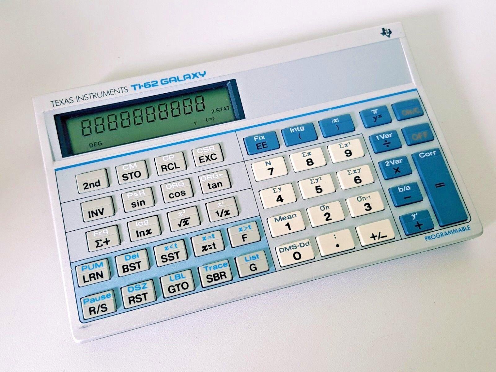Taschenrechner Texas Instruments Ti-62 Galaxy   calculator verkauft wie es ist