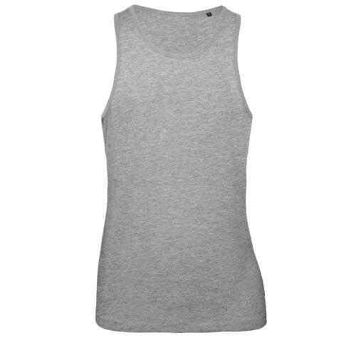 B/&c Collection Homme Inspire coton gilet TM072-Uni Sans Manches Sport Gym Tank