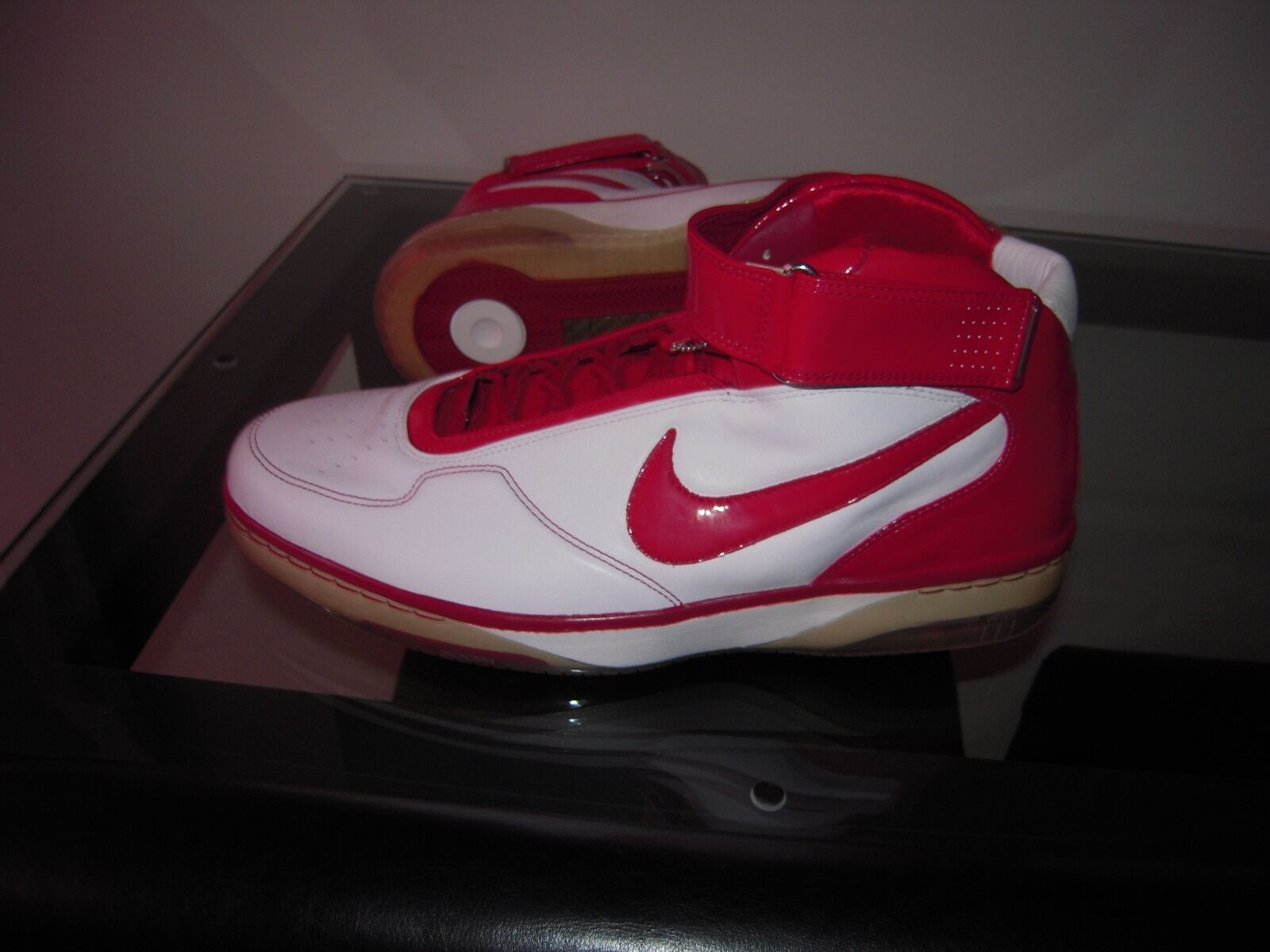 Nike air force 25 White Varsity Crimson Chrome 2007 NIB Deadstock Size 17.5 Red