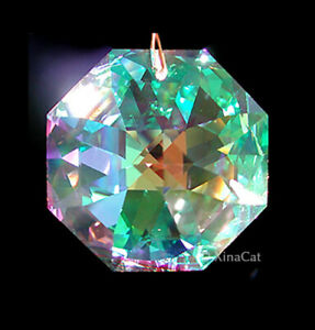 Swarovski-40mm-8115-Octagon-Austrian-Crystal-Clear-AB-Prism-SunCatcher-1-57-in
