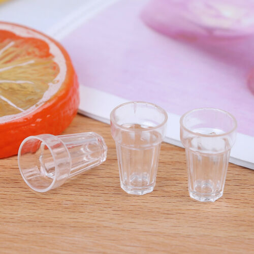 4pcs 1//12 dollhouse miniature clear wine drink cups toys kids doll accessory Fad