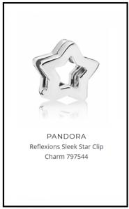 Details about Pandora Reflexions Star Clip Charm 797544