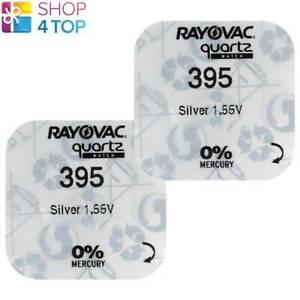 2-RAYOVAC-395-399-SR927SW-BATTERIEN-SILVER-1-55V-WATCH-BATTERY-NO-MERCURY-NEU