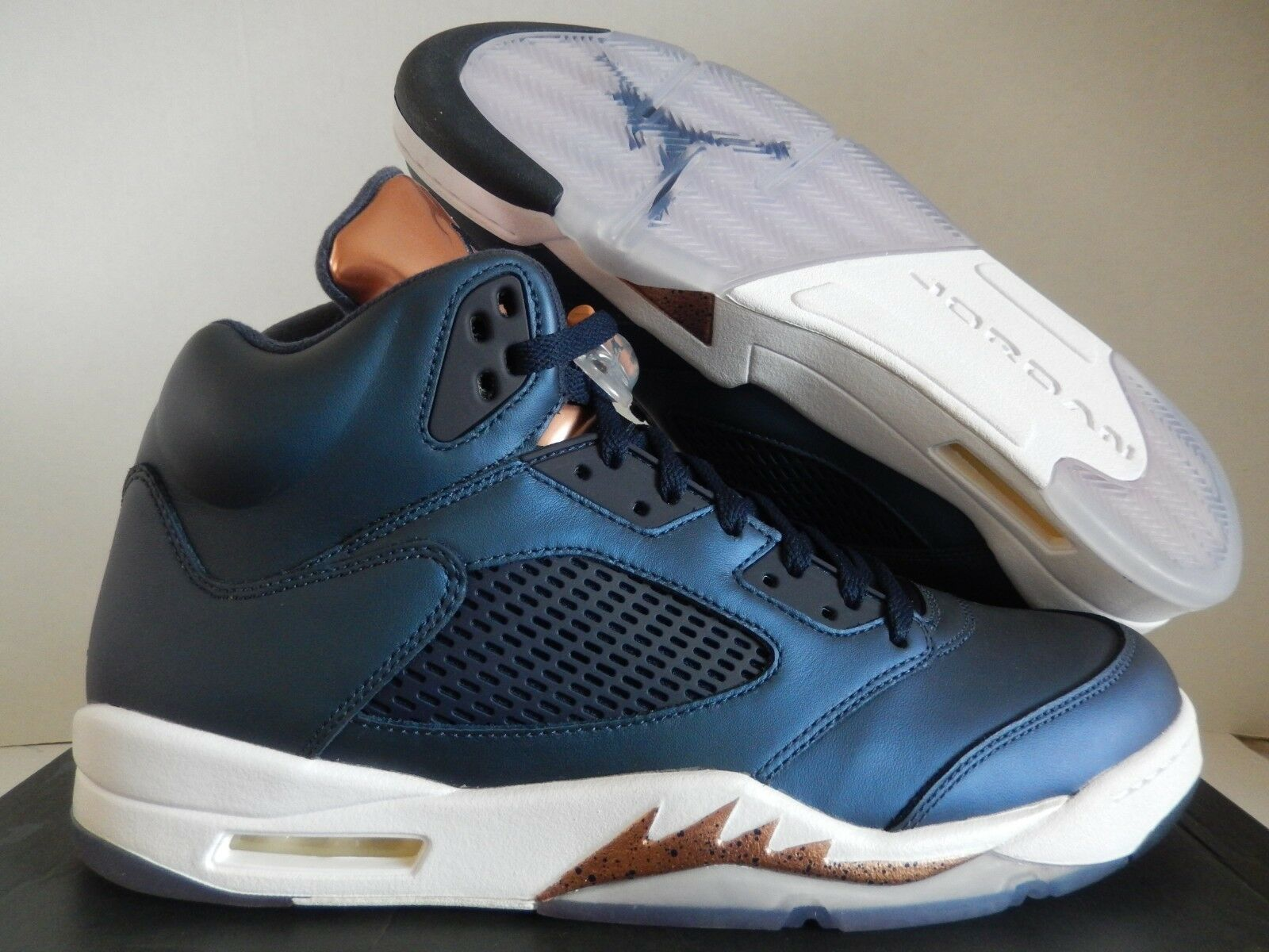 buy online 23c71 d32cd Nike Air Jordan 5 Retro Obsidian Blue-gold Bronze Medal Sz 15 136027-416