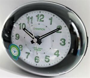 Stylish Bold Traditional Oval Silver Quartz Sweeping Non Ticking Alarm Clock Electronic Alarm Clocks Alarm Clocks