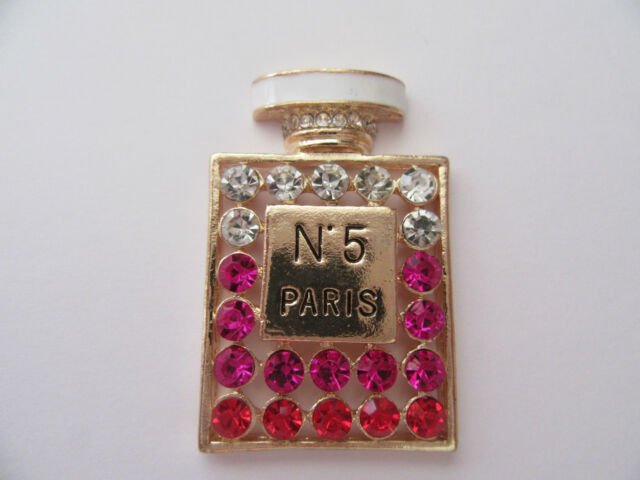 Gold Alloy DIY FlatBack Perfume Bottle Cabochon Rhinestone DIY 3D Phone Deco