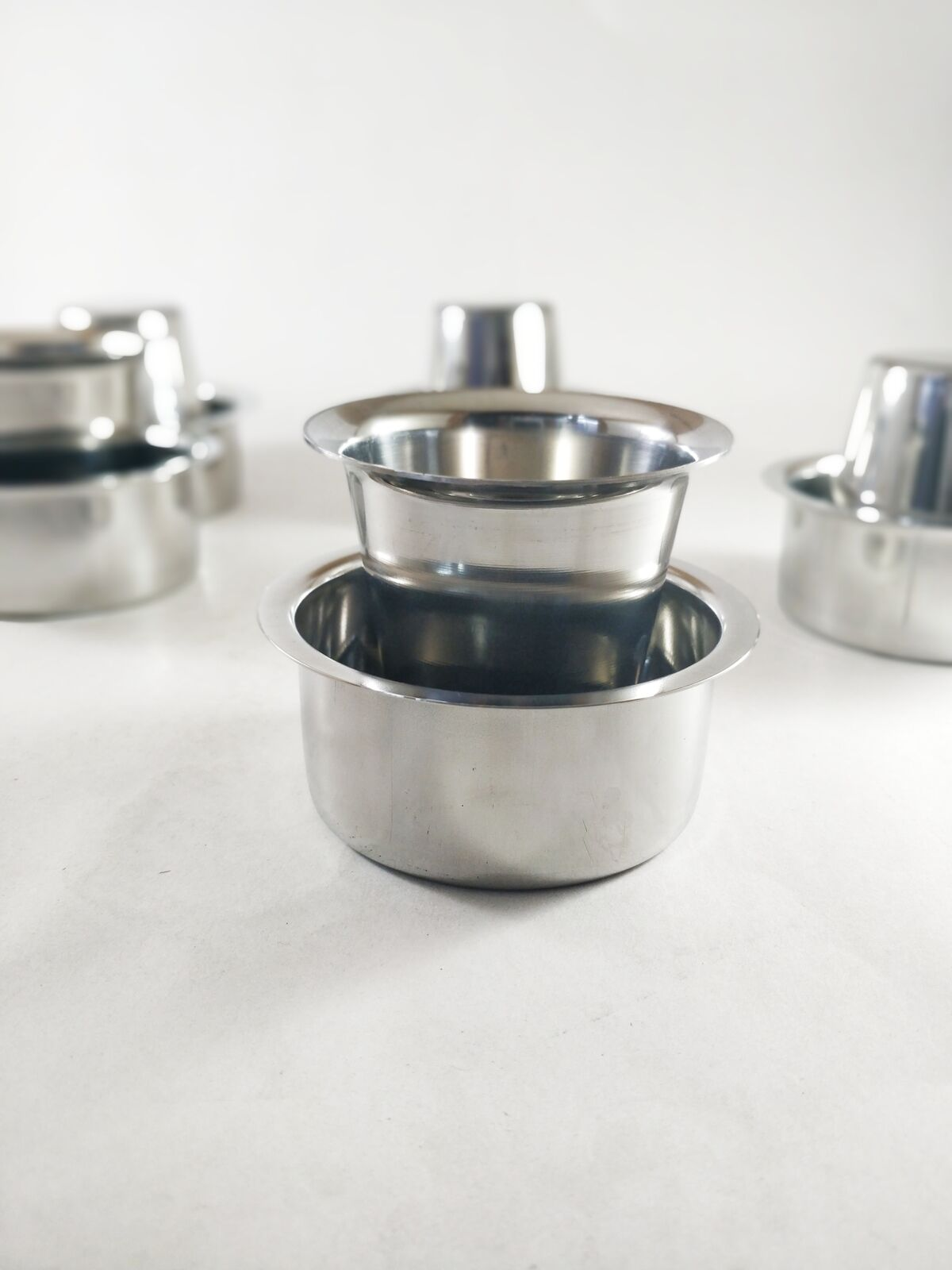 SS Coffee Tea South Indian Tumbler and  Dabra Set  for  6 persons