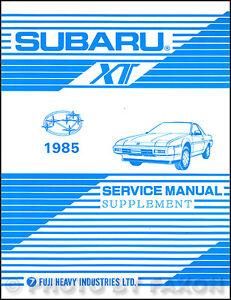 1985 subaru xt wiring diagram electrical service manual ebay. Black Bedroom Furniture Sets. Home Design Ideas