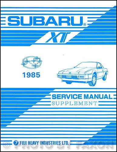 1985 Subaru Xt Wiring Diagram Electrical Service Manual Manual Guide