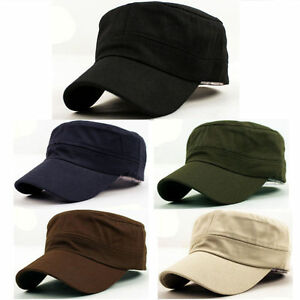 2aec256492a New Plain Army Cadet Patrol Castro Military Style Hat Cap Charcoal ...