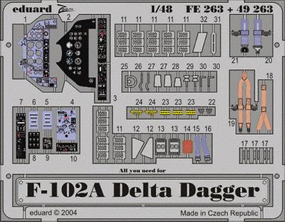 Eduard Zoom FE263 1/48 Convair F-102A Delta Dagger Revell Monogram