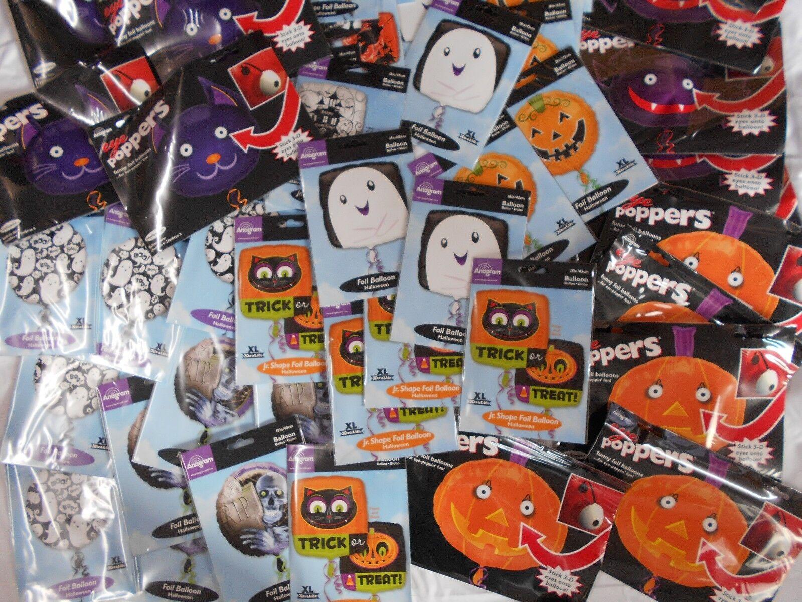 Mega Lot of 100 Halloween  Helium Foil Balloons Wholesale Job Lot clearance