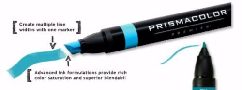 PM98-1PC Chisel Point//Fine Tip Black Prismacolor Double Ended Art Marker