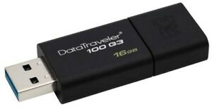Kingston-DataTraveler100-G3-16GB-USB-3-0-Flash-Stick-Pen-Memory-Drive-Black