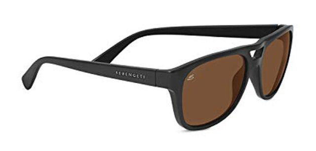 9acaf588f Serengeti Tommaso Sunglasses - 7957 - Shiny Black Frame w/ Polarized Glass  Lens
