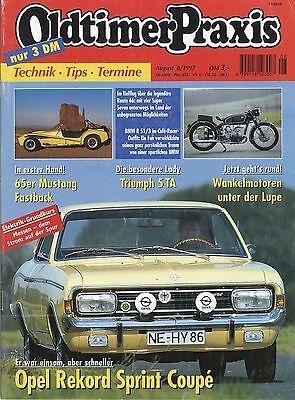 Automobilia Oldtimer Praxis 1997 8/97 Opel Rekord Sprint Coupé Super Seven Bmw R51/3 Mustang SorgfäLtige Berechnung Und Strikte Budgetierung