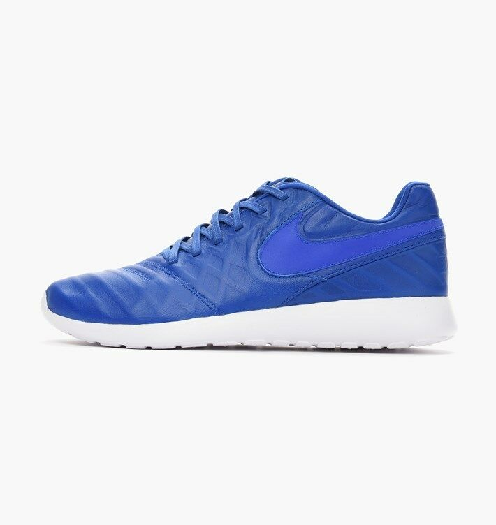 Nike Roshe Tiempo VI QS Men Shoes Racer Blue Gold White 853535 447 Comfortable best-selling model of the brand
