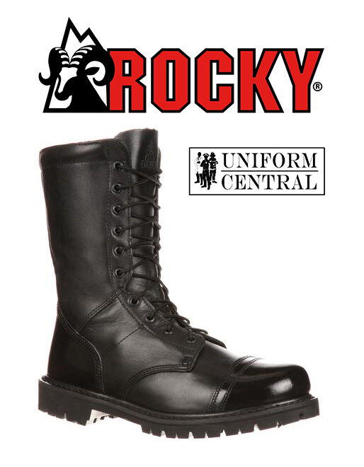 NEW Rocky Mens Black Side Zipper 10  Tactical Jump Boot - All Sizes - 2090