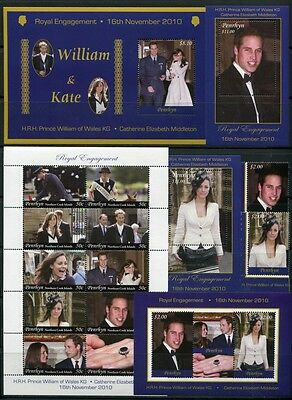 Radient Penrhyn 2011 Kgl Briefmarken Verlobung Prinz William Kate Royal Engagement Mnh GläNzende OberfläChe