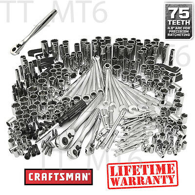 Craftsman 311 pc Mechanics Tool Set Ratcheting Combination Wrench