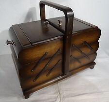 Art Deco Nähkasten Utensilienbox Buche Nähkästchen - antique sewing box 30er