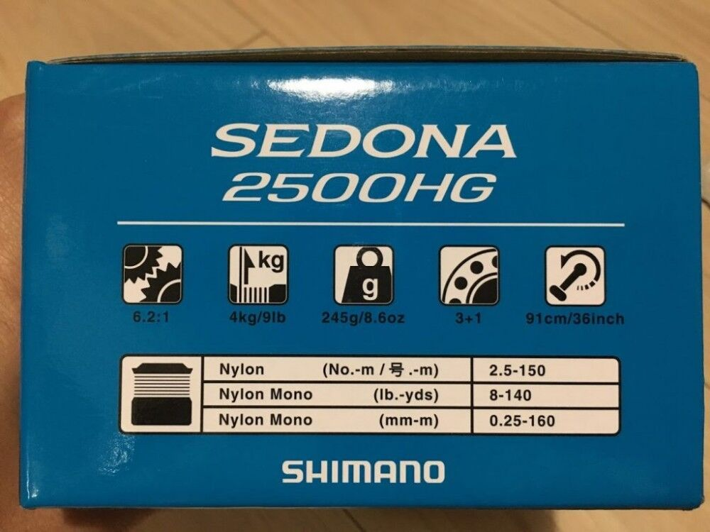 Shimano Spinning Reel 17 Model SEDONA New (1000-8000) New SEDONA from Japan 72fd03
