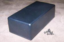 Black Plastic Electronic Project Box Enclosure Case 5 X 25 X 16 2 Pcs Usa Made