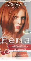 Feria Hair Color, 74 Deep Copper (packaging May Vary)