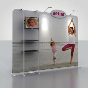 Trade Show Booth With Shelves : Ft fabric tube trade show display pop up banner booth tv stand