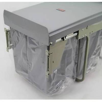 Kitchen Dual Bin. 40Lt  2 x 20 Lt Bins. Fixed Panel Pull Out . Grey (KAWBF40G)