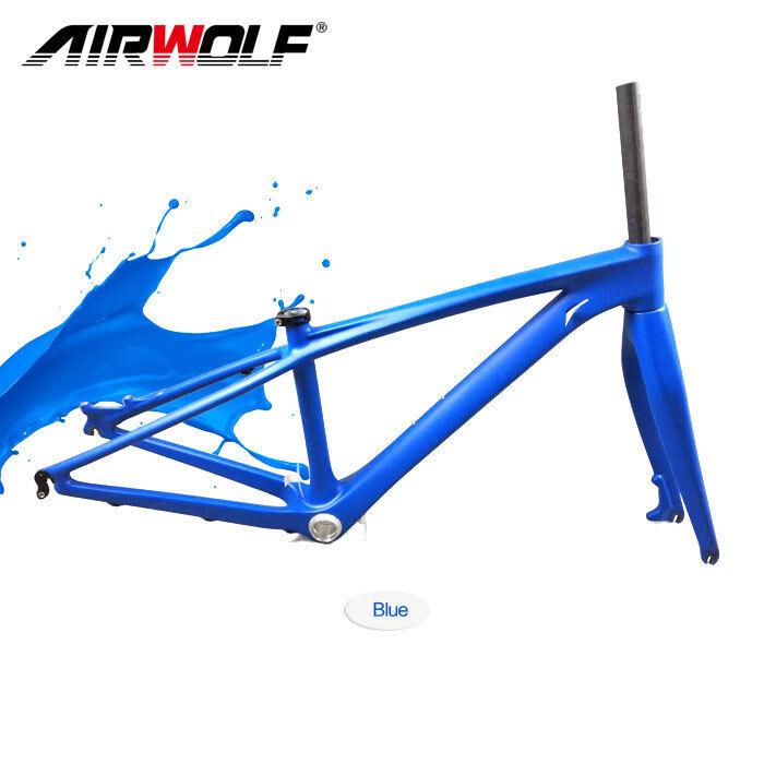 2019 carbon fiber mtb bike frame 26er 14 mountain bicycle cycling framesetfork
